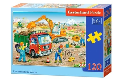 Пазл Castorland Строительные работы 120 деталей B-13180