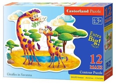 Пазл Castorland Maxi Жирафы 12 деталей B-120178