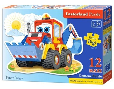 Пазл Castorland Maxi Забавный экскаватор12 деталей B-120024