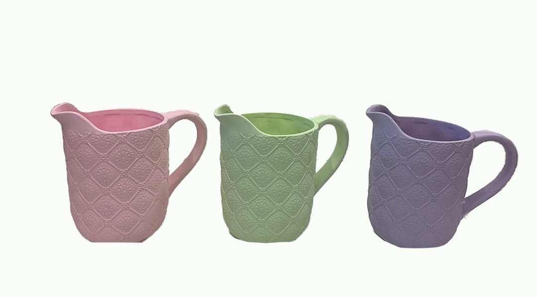 CP1551ASST - 3 Assorted Color Pastel Pitcher 6