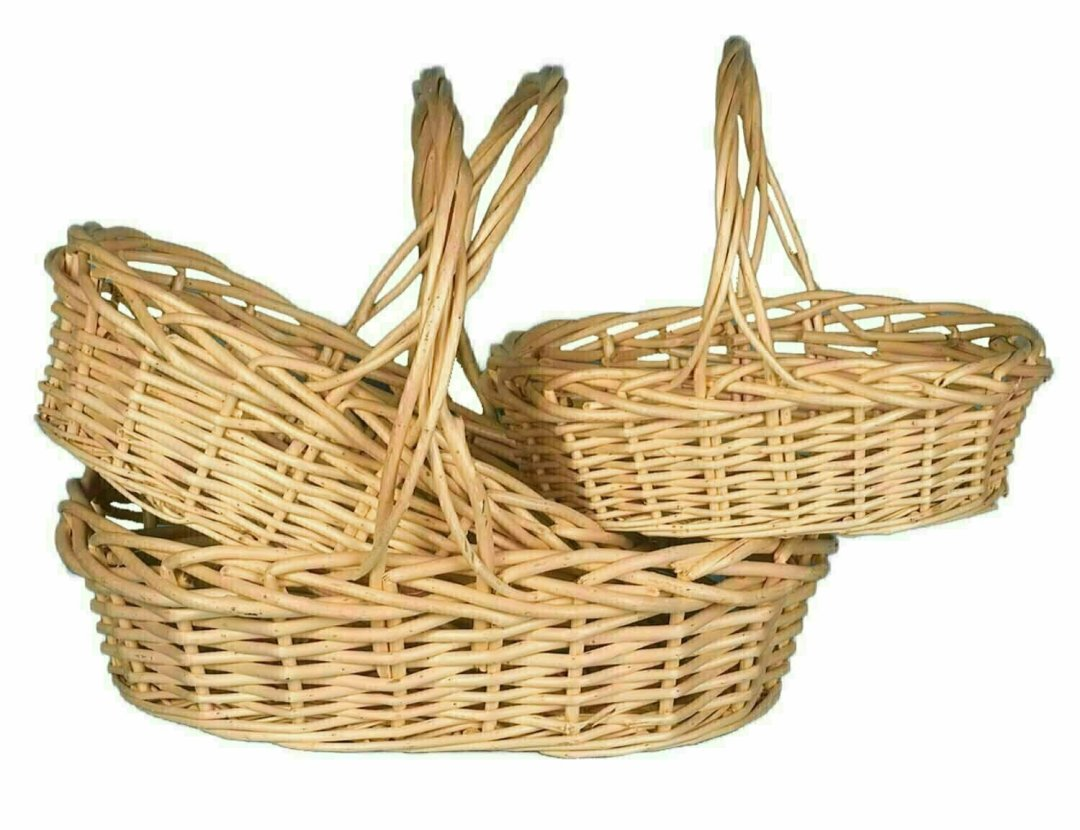MS1101 - S/3 Large Oval Natural Willow 14