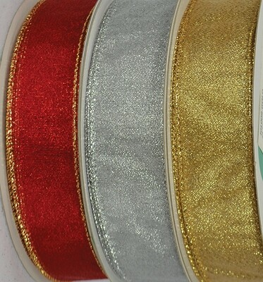 FRO9SILVER - SHEER FROST #9 HOLIDAY RIBBON (Only Silver)
