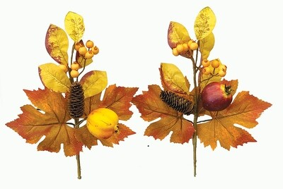 """SBF2033ASST - 2 Assorted Style 14"""" Mix Fall Leaf Pick $2.75 Each"""