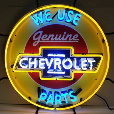 Chevrolet Chey We Use Parts Neon Sign