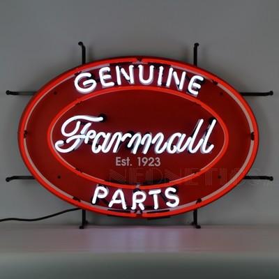 Farmall Tractor Genuine Parts Oval Neon Sign