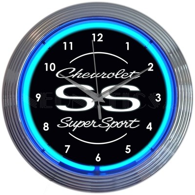 Chevrolet Chevy SS SuperSport Neon Clock