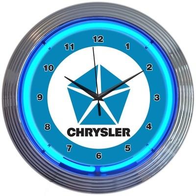 Chrysler Star Neon Clock