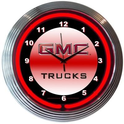 GMC Trucks Neon Clock