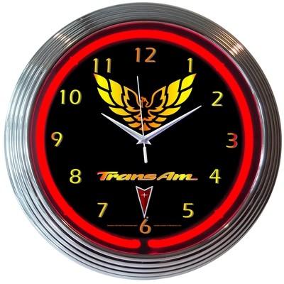 Pontiac Trans Am Neon Clock