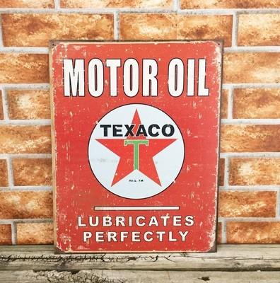 Texaco Star Red Motor Oil Gas