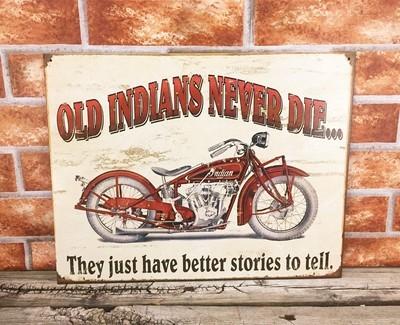 Indian Motorcycle Old Indians Never Die