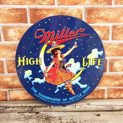 Miller High Life Round Embossed