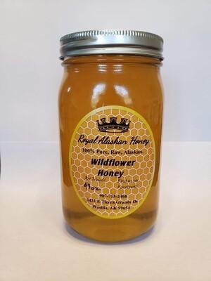 1 Quart Wildflower Honey
