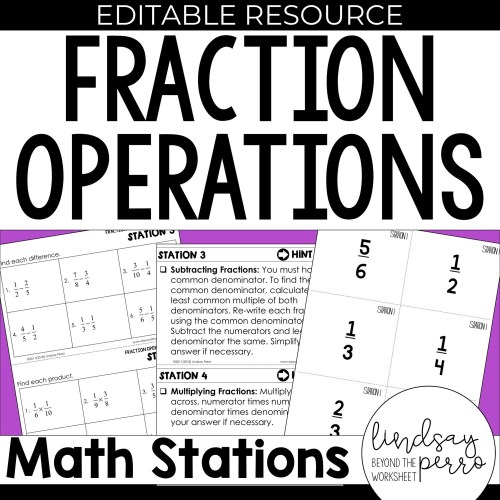 small resolution of 5th Grade Fraction Operation Stations   Store - Lindsay Perro