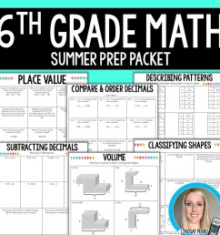6th Grade Math Summer Prep Packet [ 1500 x 1500 Pixel ]