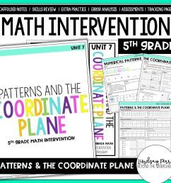 5th Grade Intervention: Patterns \u0026 The Coordinate Plane   Store - Lindsay  Perro [ 1500 x 1500 Pixel ]