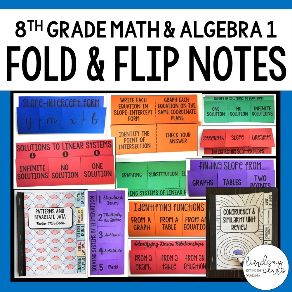 medium resolution of 8th Grade Math and Algebra Foldable Style Notes
