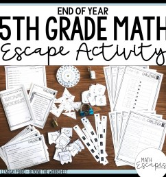 5th Grade Math End of Year Escape Room Activity [ 1500 x 1500 Pixel ]
