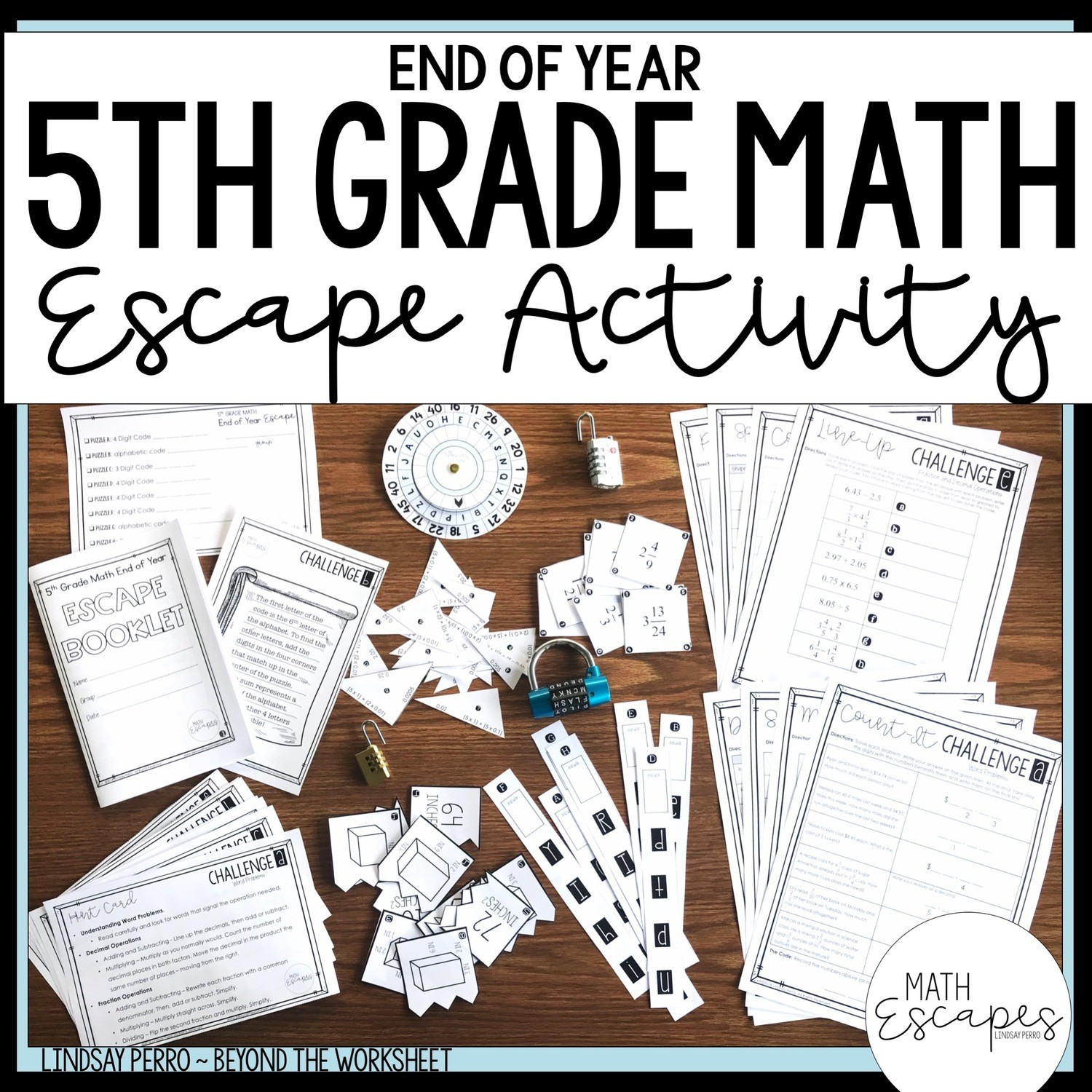 hight resolution of 5th Grade Math End of Year Escape Room Activity