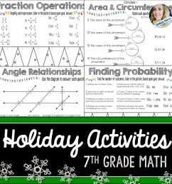 7th Grade Holiday Math Activities [ 1500 x 1500 Pixel ]