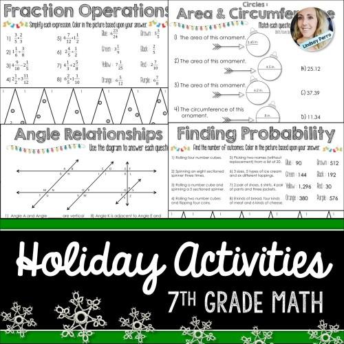 small resolution of 7th Grade Holiday Math Activities