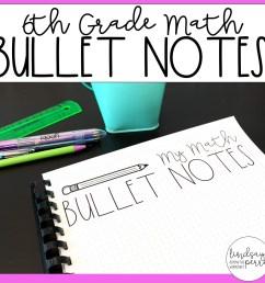 6th Grade Math Bullet Notes [ 1500 x 1500 Pixel ]