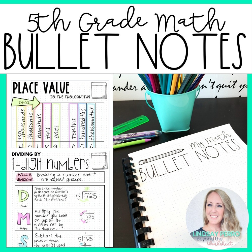 medium resolution of 5th Grade Math Bullet Notes   Store - Lindsay Perro