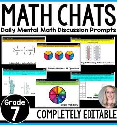 7th Grade Math Chats [ 1500 x 1500 Pixel ]