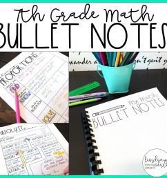 7th Grade Math Bullet Notes [ 1500 x 1500 Pixel ]