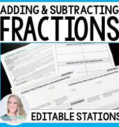 Adding \u0026 Subtracting Fractions \u0026 Mixed Number Stations   Store - Lindsay  Perro [ 1500 x 1500 Pixel ]