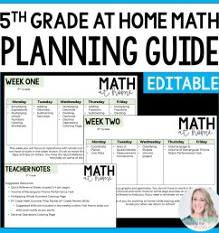 5th Grade Math Home Learning Template   Store - Lindsay Perro [ 1500 x 1500 Pixel ]