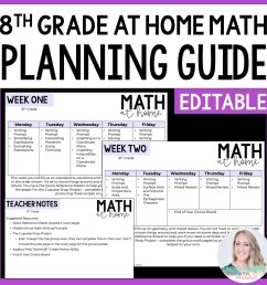 8th Grade Math Home Learning Template [ 1500 x 1500 Pixel ]