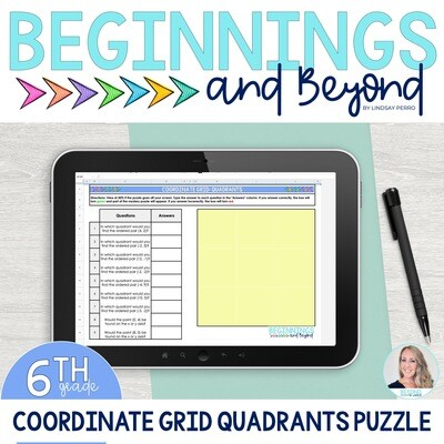 Coordinate Planes : Quadrants Digital Puzzle