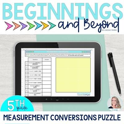 Measurement Conversions Digital Puzzle