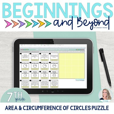 Area and Circumference of Circles Digital Puzzle