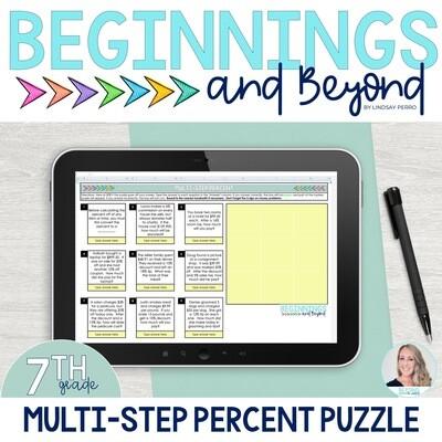 Multi-Step Percent Digital Puzzle