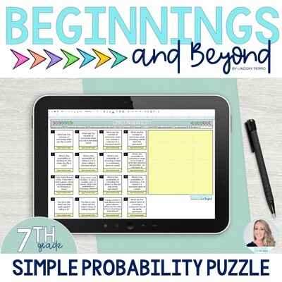 Simple Probability Digital Puzzle