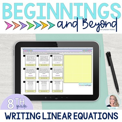 Writing Linear Equations Digital Puzzle
