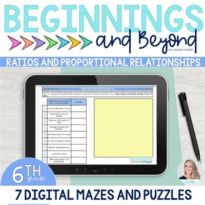 6th Grade Ratios and Proportions Digital Maze and Puzzle Bundle