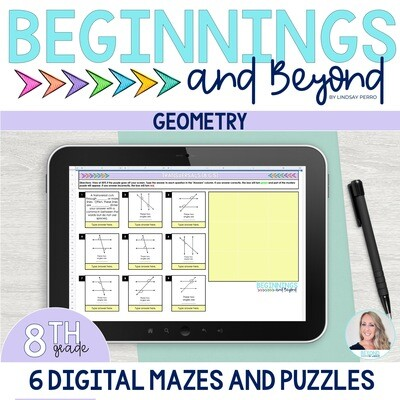 8th Grade Geometry Digital Maze and Puzzle Bundle