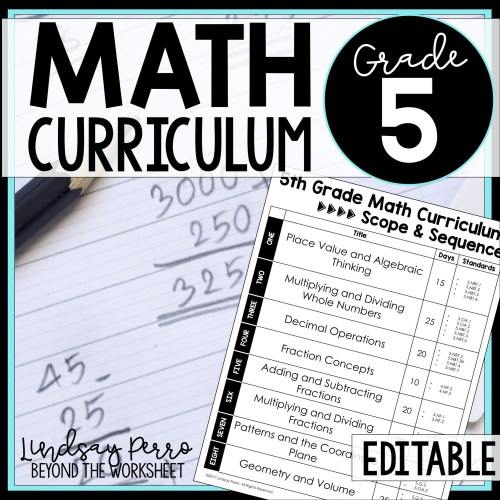 small resolution of 5th Grade Math Curriculum   Store - Lindsay Perro
