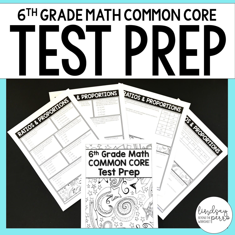 6th Grade Math Common Core Test Prep [ 1200 x 1200 Pixel ]