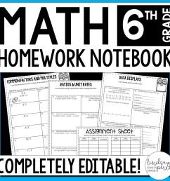 6th Grade Math Homework - A Year of Editable Homework   Store - Lindsay  Perro [ 1500 x 1500 Pixel ]