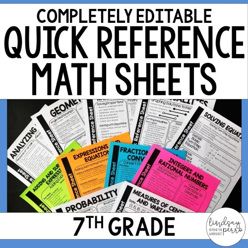small resolution of 7th Grade Math Quick Reference Sheets   Store - Lindsay Perro