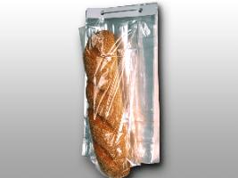 9 X 14 + 4 BG + 1 1/2 LP 1 mils Polypropylene Co-Extruded Bottom Gusset Bag on Wicket Dispenser