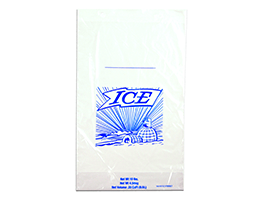 12 X 26 + 4 BG + 1 1/2 LP 1.75 mils Printed 20 lb. Ice Bag on Header -- use with Ice Bagger