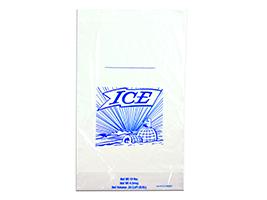 11 X 19 + 4 BG + 1 1/2 LP 1.25 mils Printed 8 lb. Ice Bag on Header -- use with Ice Bagger