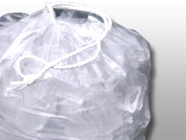 12 X 19 1.35 mils Printed Metallocene Ice Bag with Drawstring Closure -- 10 lb.