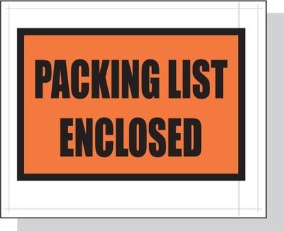 Printed Packing List Envelopes 4.5