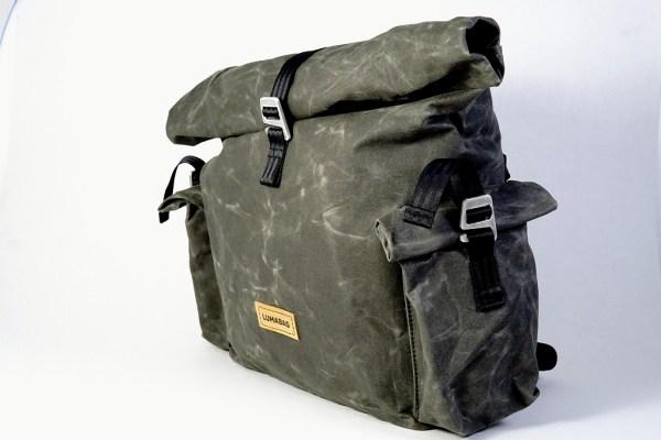 Lumabag Urban Traveller model 'Vincent' backpack & front bag for Brompton bikes 00005